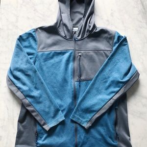 Men's Columbia Hooded Fleece Jacket Size XL